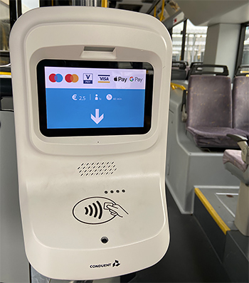 white terminal - contactless payment